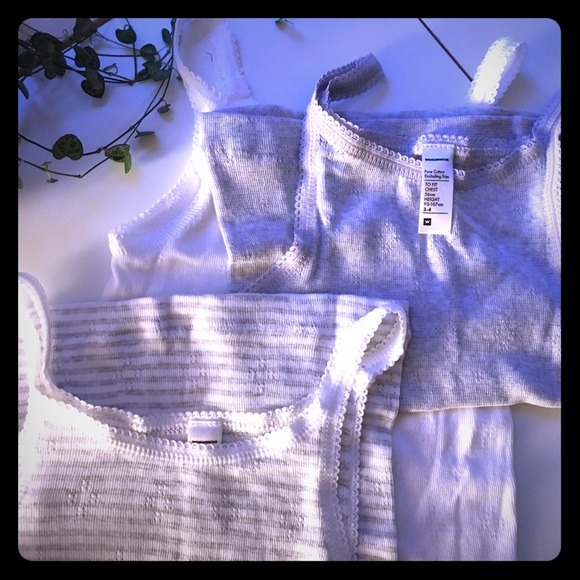NWOT 3 x cotton undervests (girls)